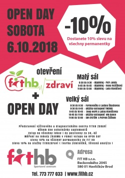 OPEN DAY - 6.10.2018